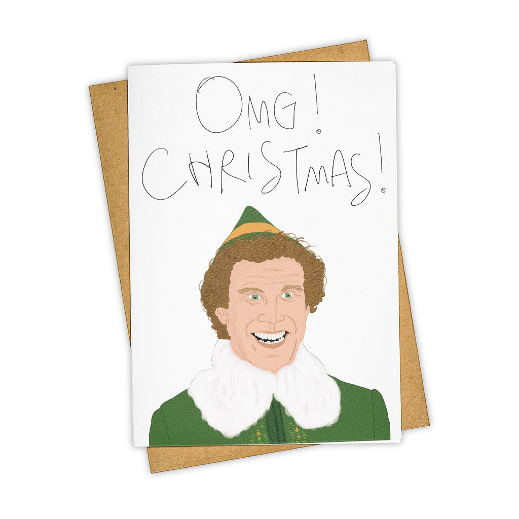 Omg christmas by tayham hand illustrated christmas card tay ham elf will ferrell omg christmas card back previous next m4hsunfo