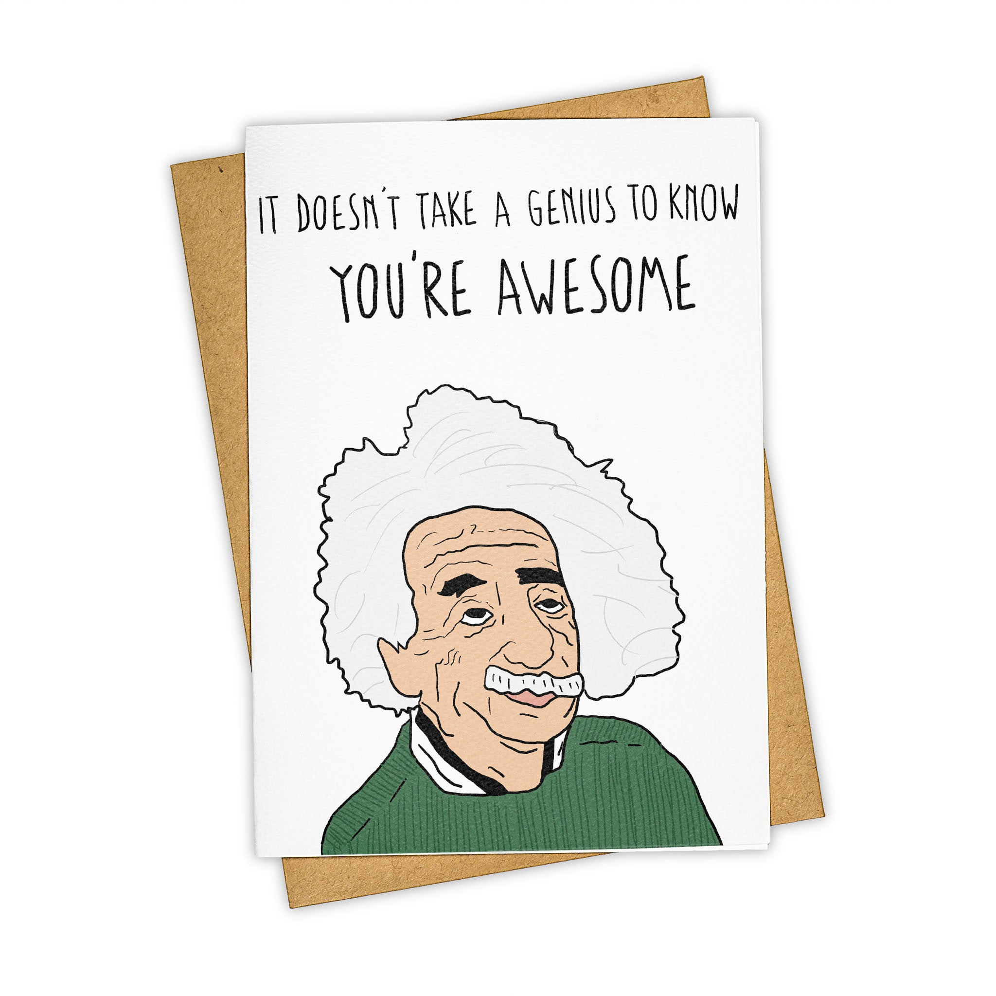 TAY HAM Albert Einstein Genius Nerd Father's Day Greeting Card