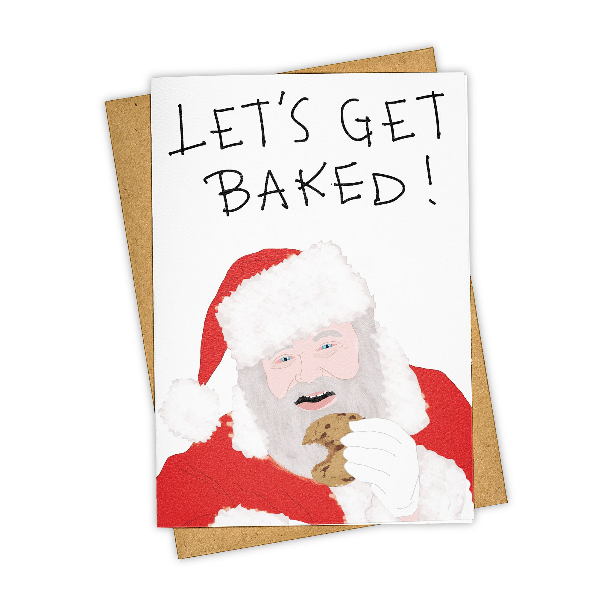TAY HAM Bad Santa High Weed Christmas Greeting Card