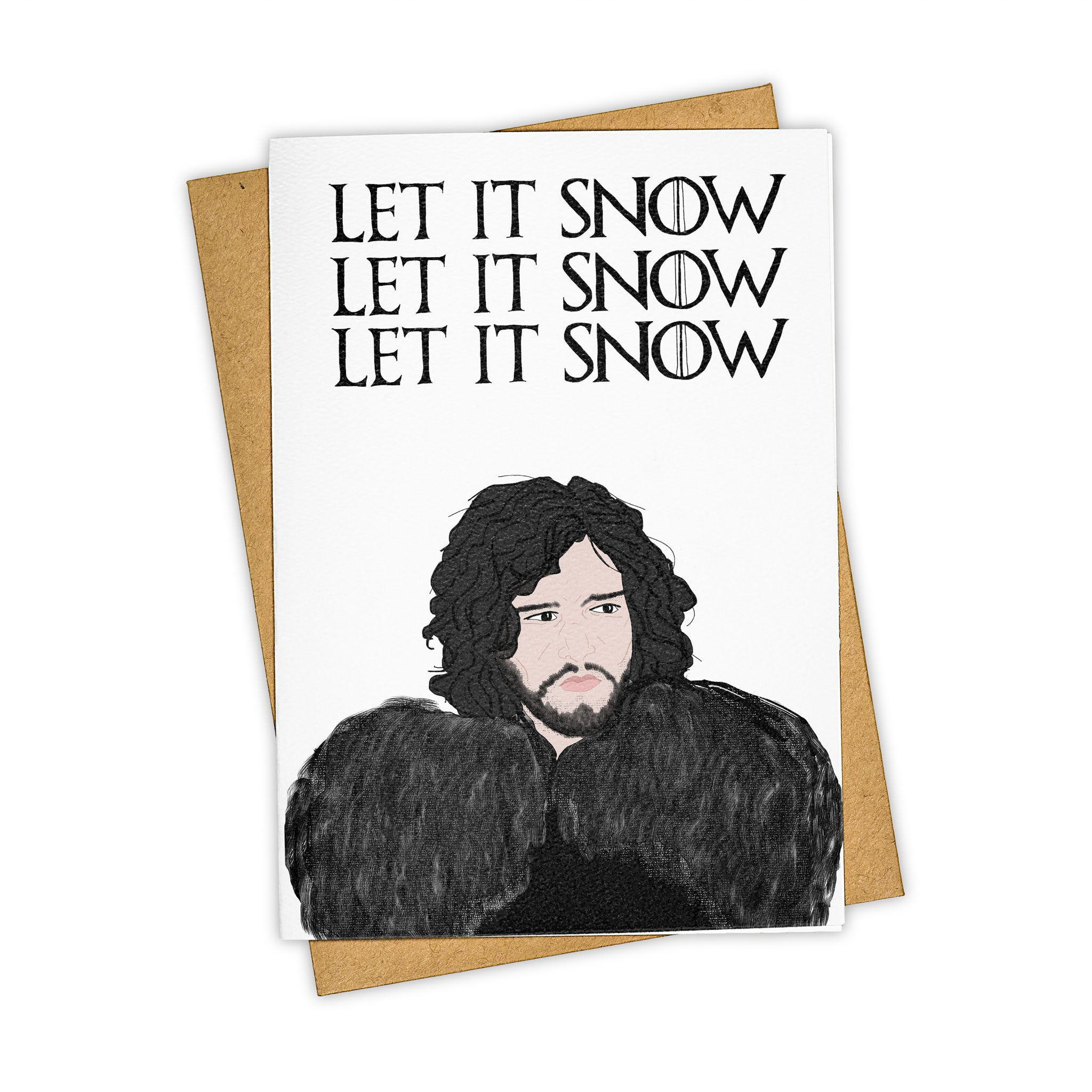 TAY HAM Game of Thrones Jon Snow Christmas Card