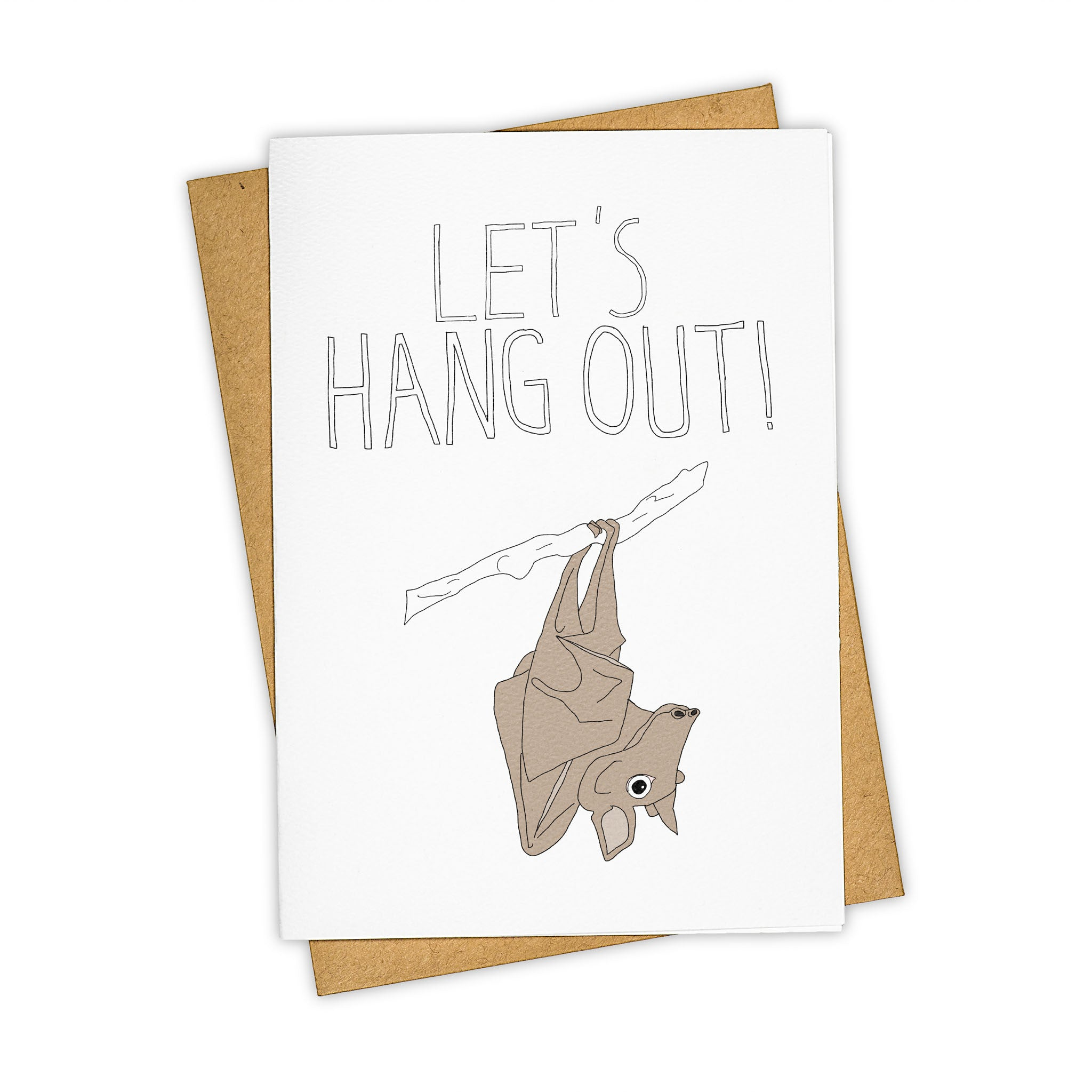 TAY HAM Friendship card Bat Let's Hang Out