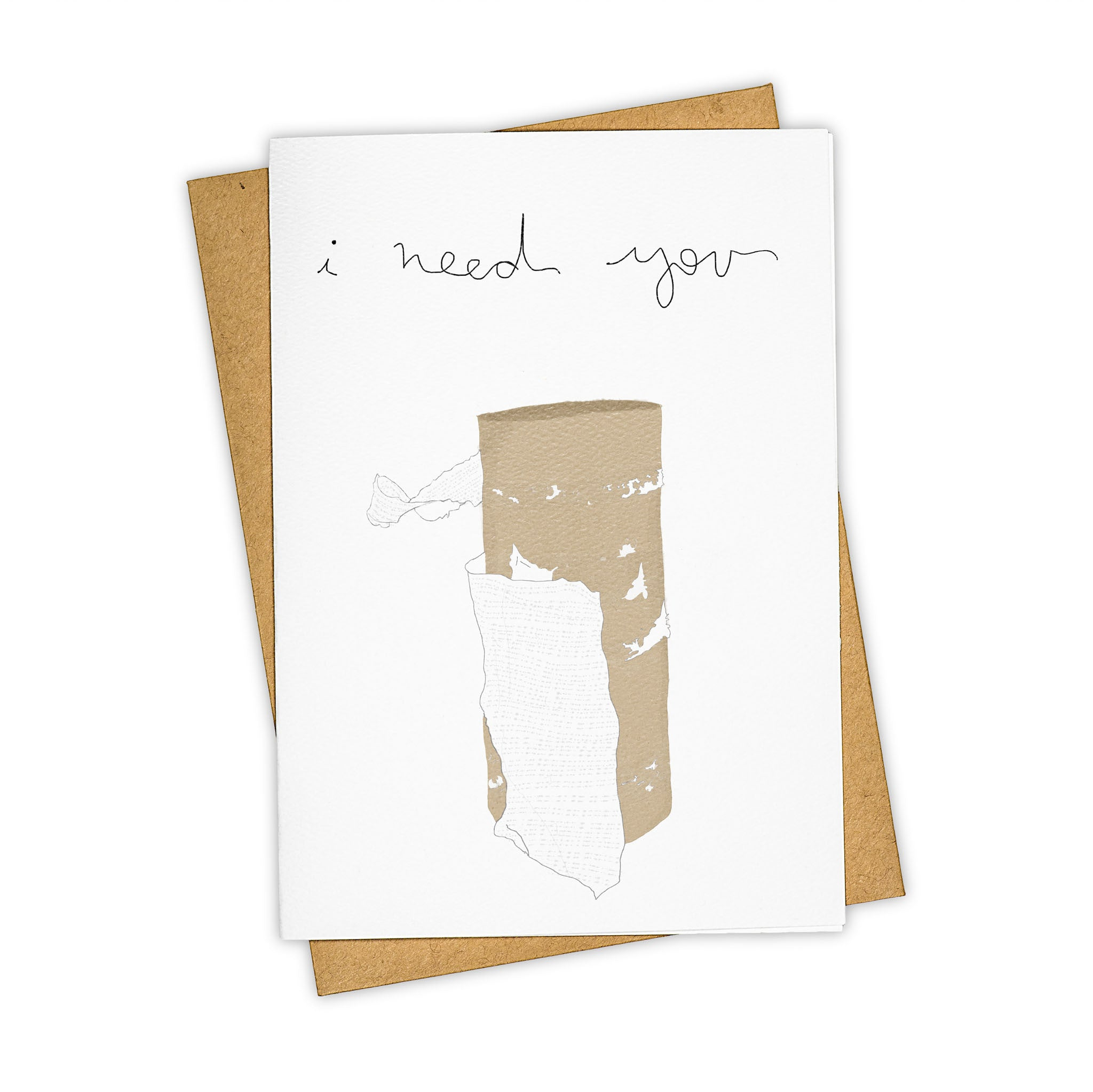 TAY HAM Toilet Paper Need You Greeting Card