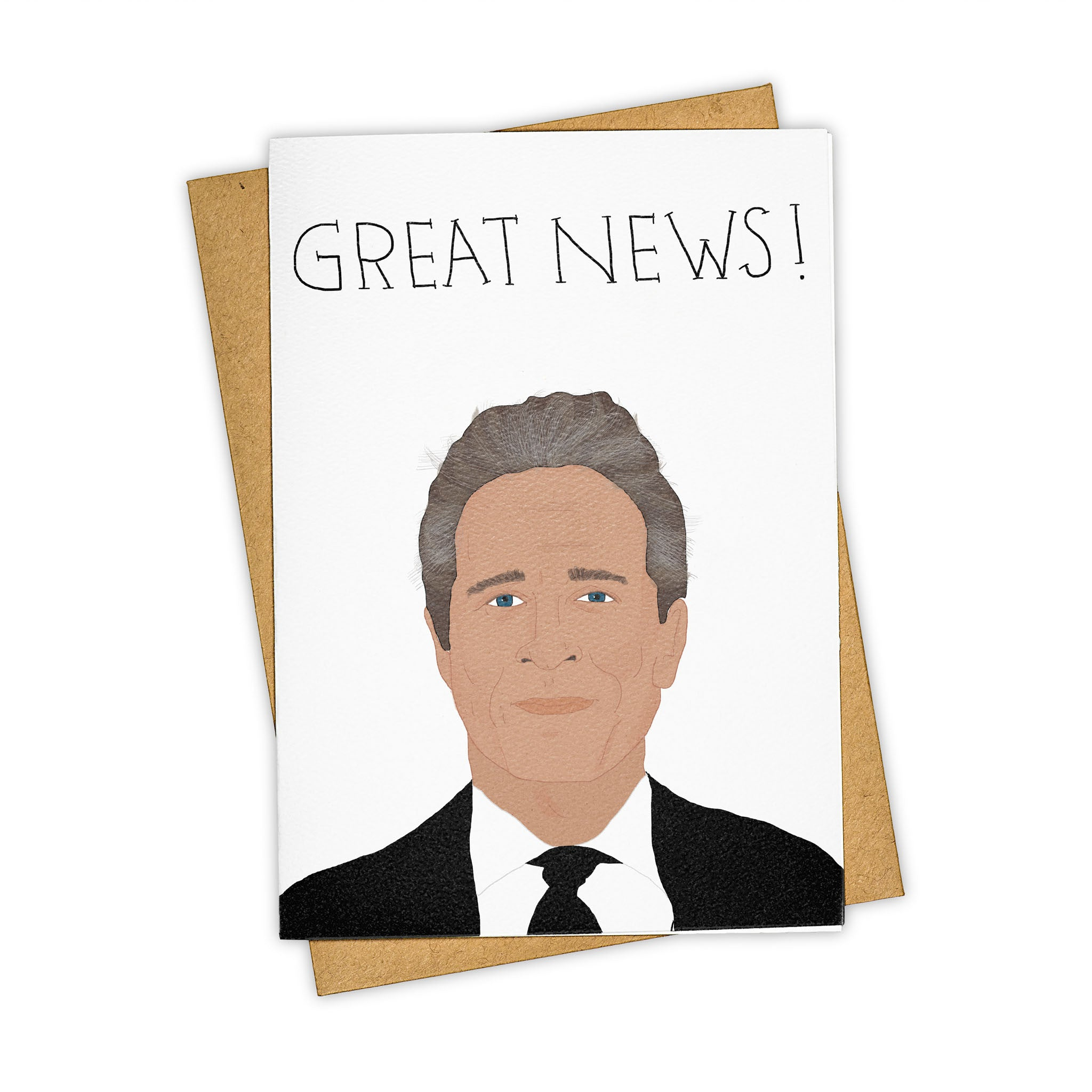 TAY HAM John Stewart The Daily Show Great News Greeting Card
