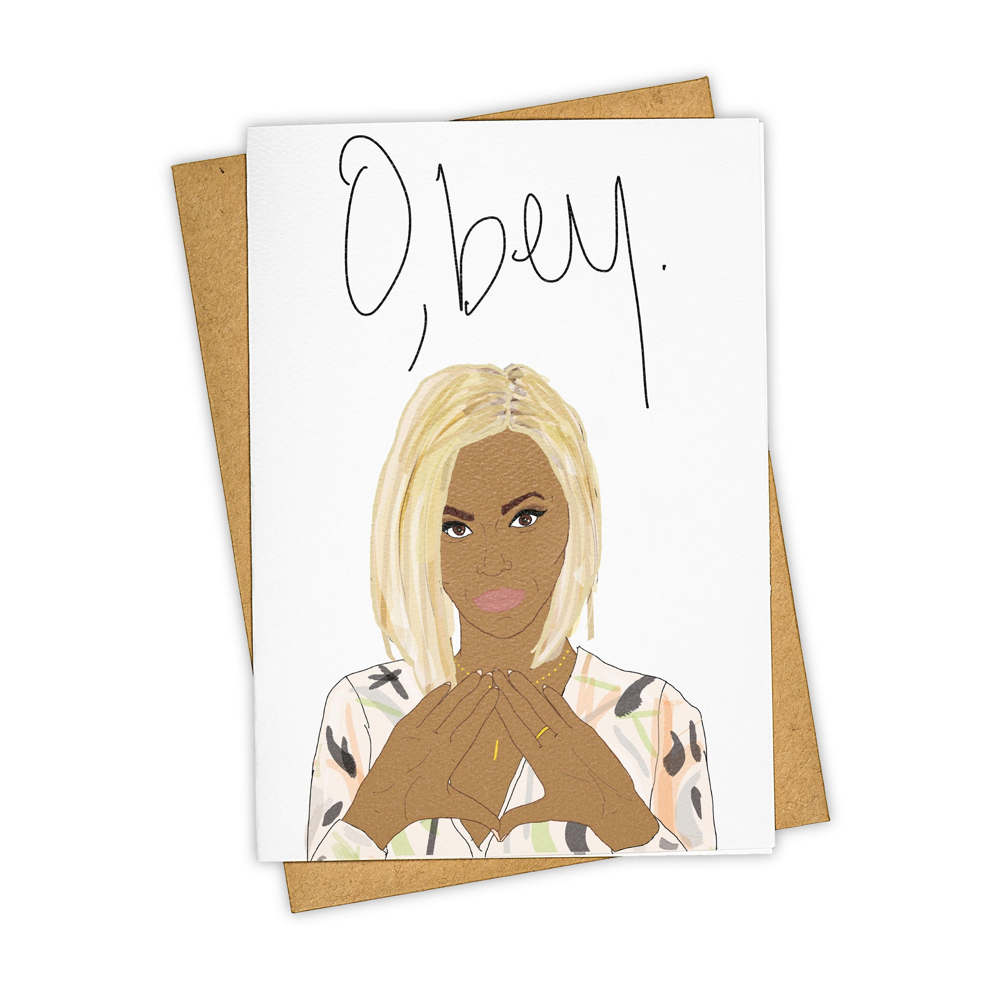 TAY HAM Beyonce GIRLS run the world O'Bey Beyhive Greeting Card