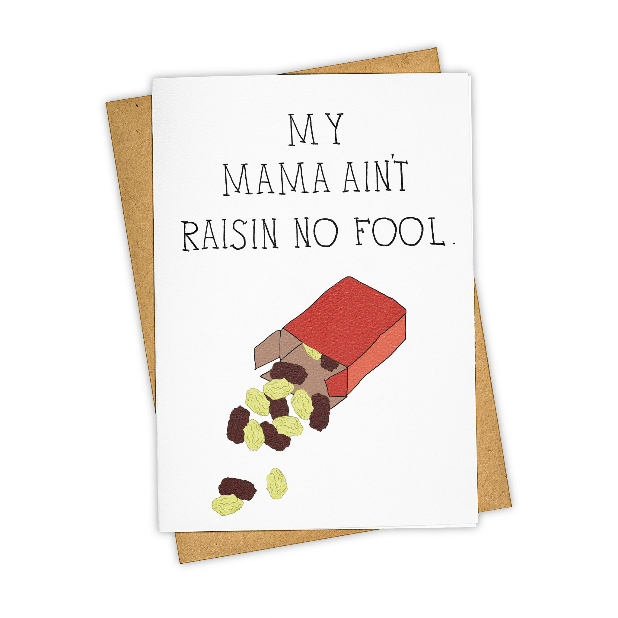 TAY HAM Raisin Mr. Tee Greeting Card Mother's Day