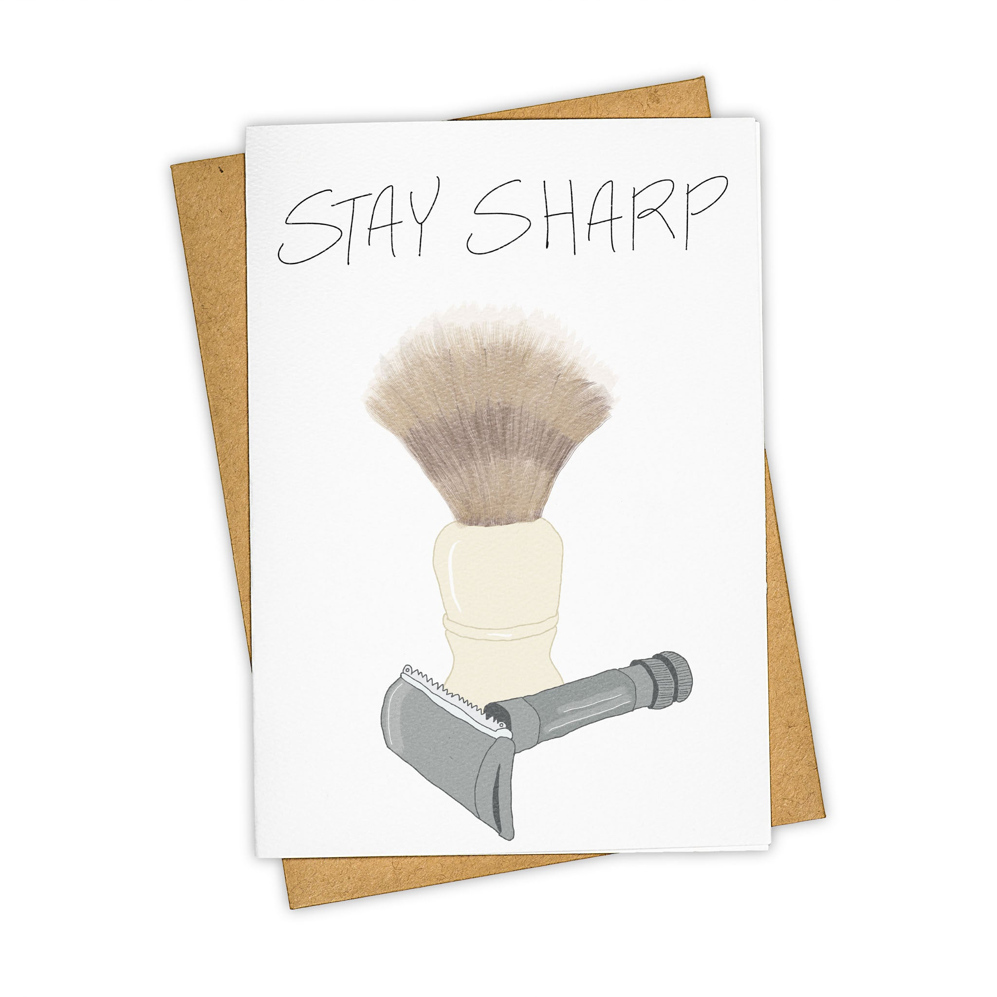 TAY HAM Hipster Dad Straight Razor Shave Greeting Card