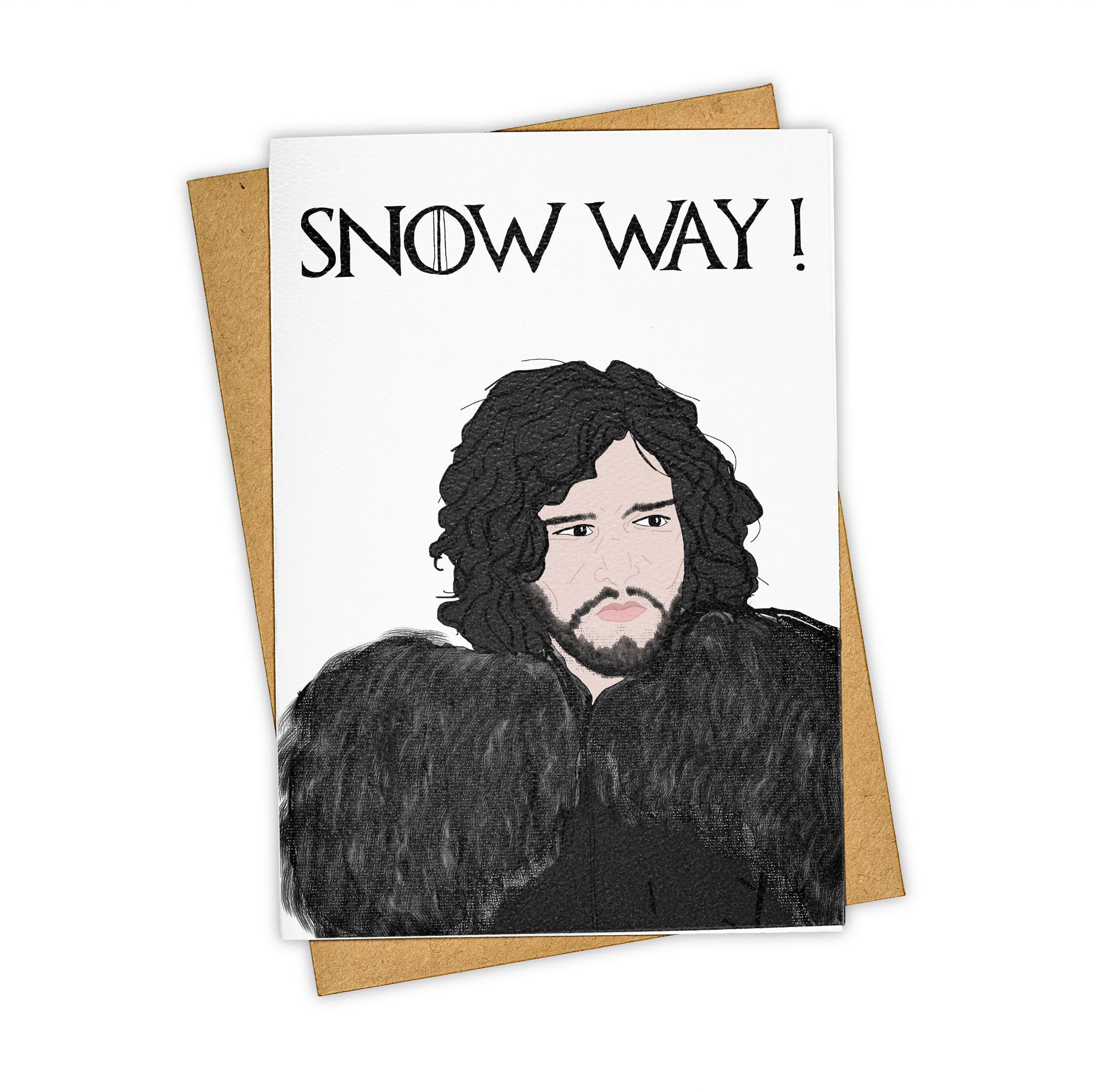 TAY HAM Game of Thrones Jon Snow Way Greeting Card