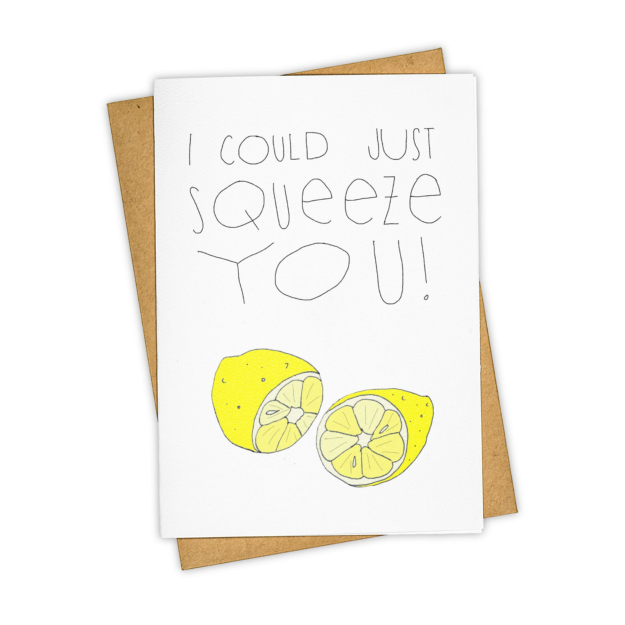 TAY HAM Lemon Squeeze Miss Love You Greeting Card