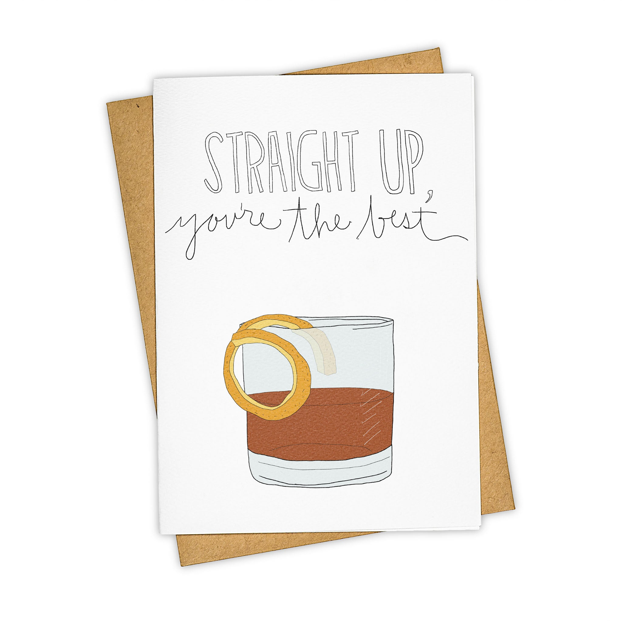 TAY HAM Old Fashion Mad Men Vintage Style Greeting Card
