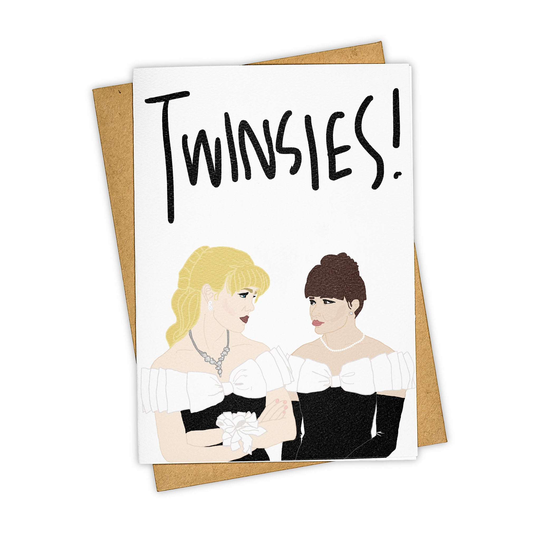 TAY HAM 90210 Kelly Taylor Brenda Walsh Dresses Twinsies Card