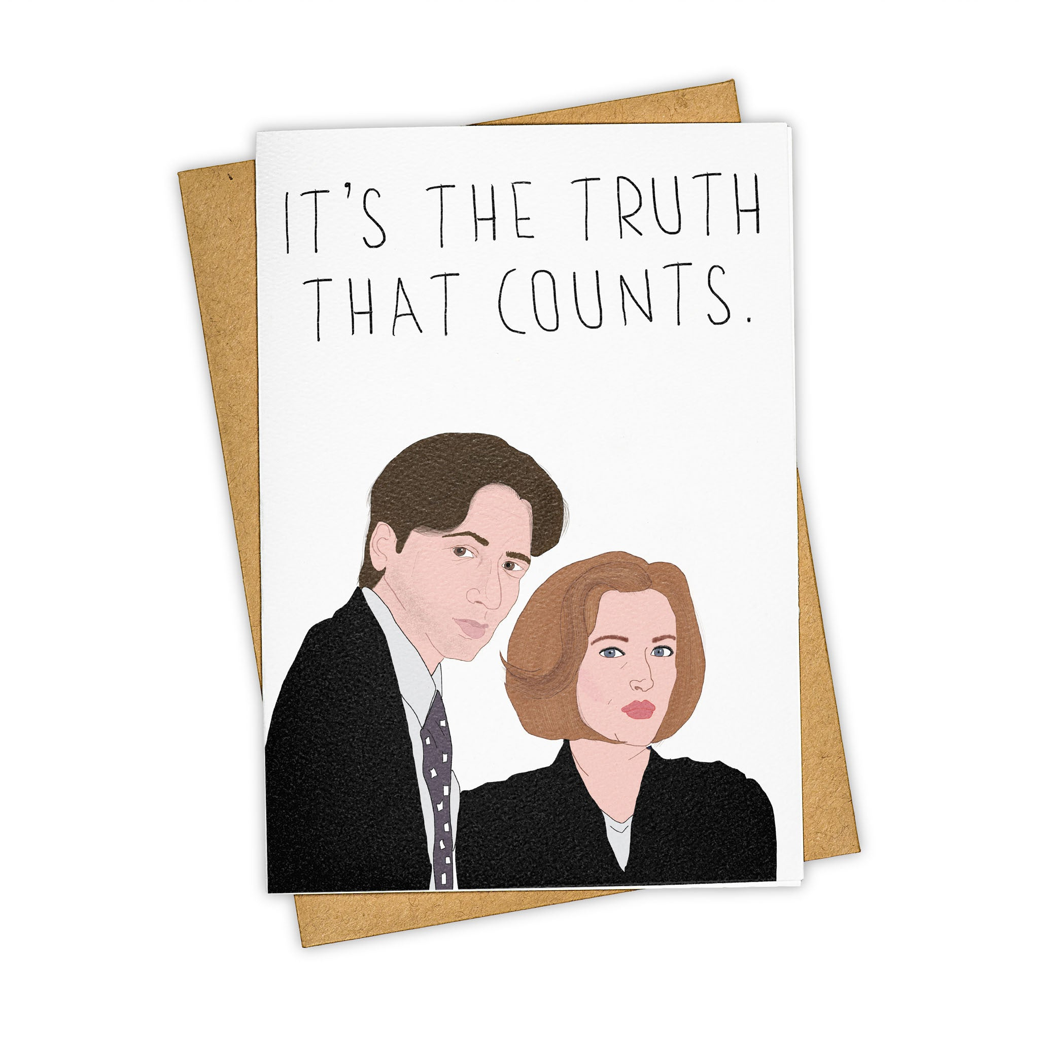 TAY HAM X-Files Dana Skully Fox Mulder Truth is out there Greeting Card