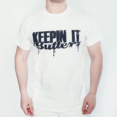 'KeepinItButterz' limited edition collaboration t-shirt