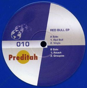"Preditah - Red Bull EP 12"" limited blue vinyl"