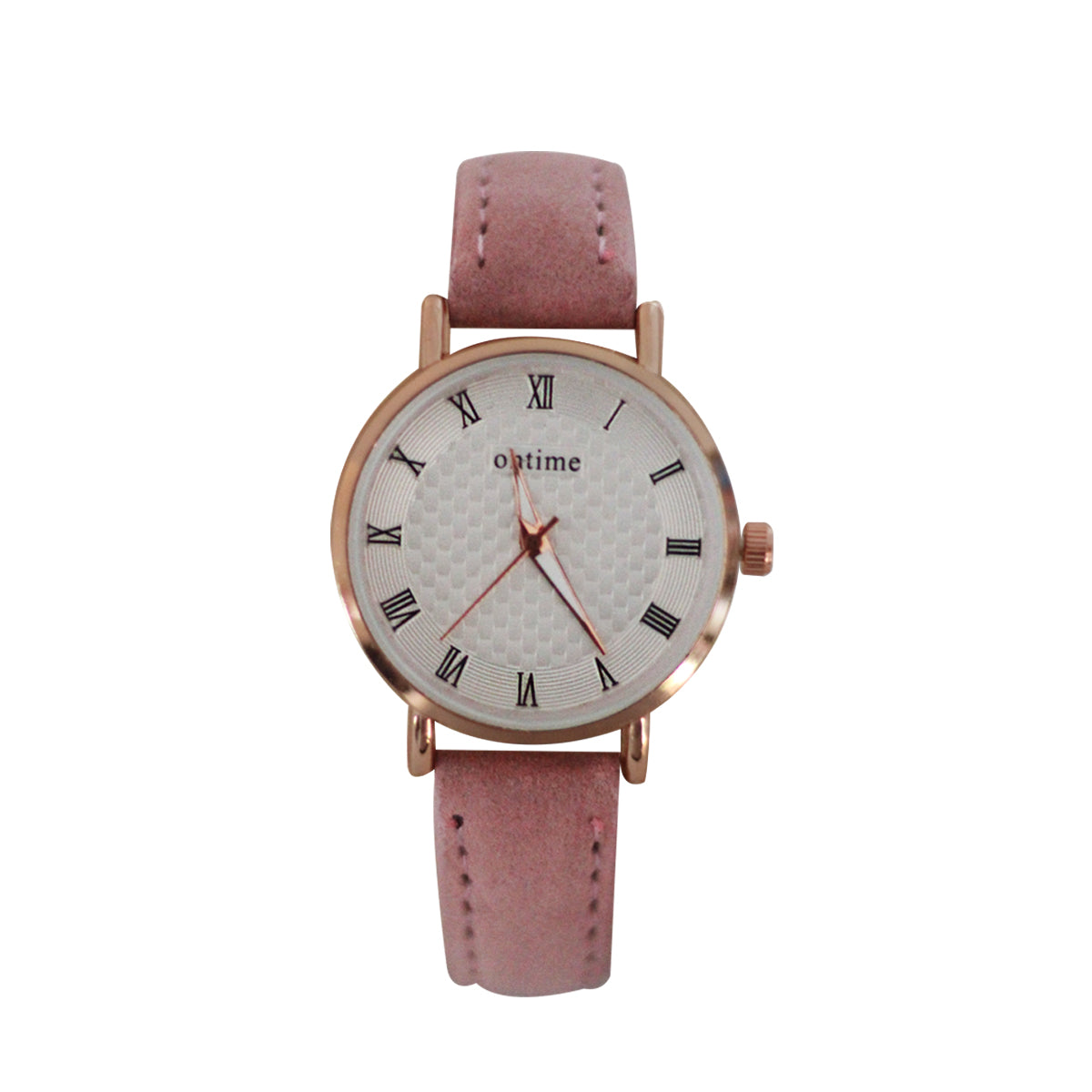 Ontime Casual Analog Microfiber Watch For Women - Pink