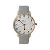 Lena Casual Analog Leather Watch For Women - Grey