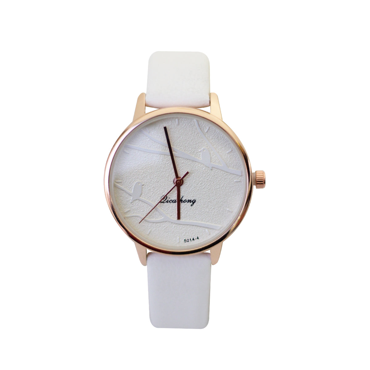 Licaihong Casual Analog Leather Watch For Women - White