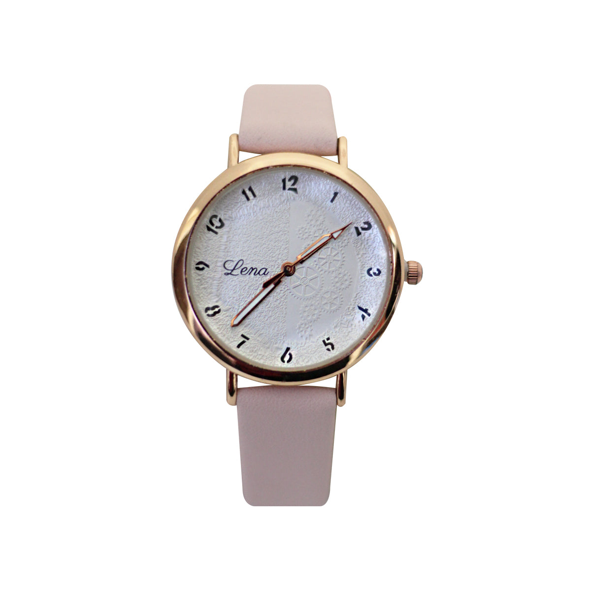 Lena Casual Analog Leather Watch For Women - Pink
