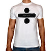 Phoenix WHITE Round Neck Printed T-Shirt Men (Shape of you)