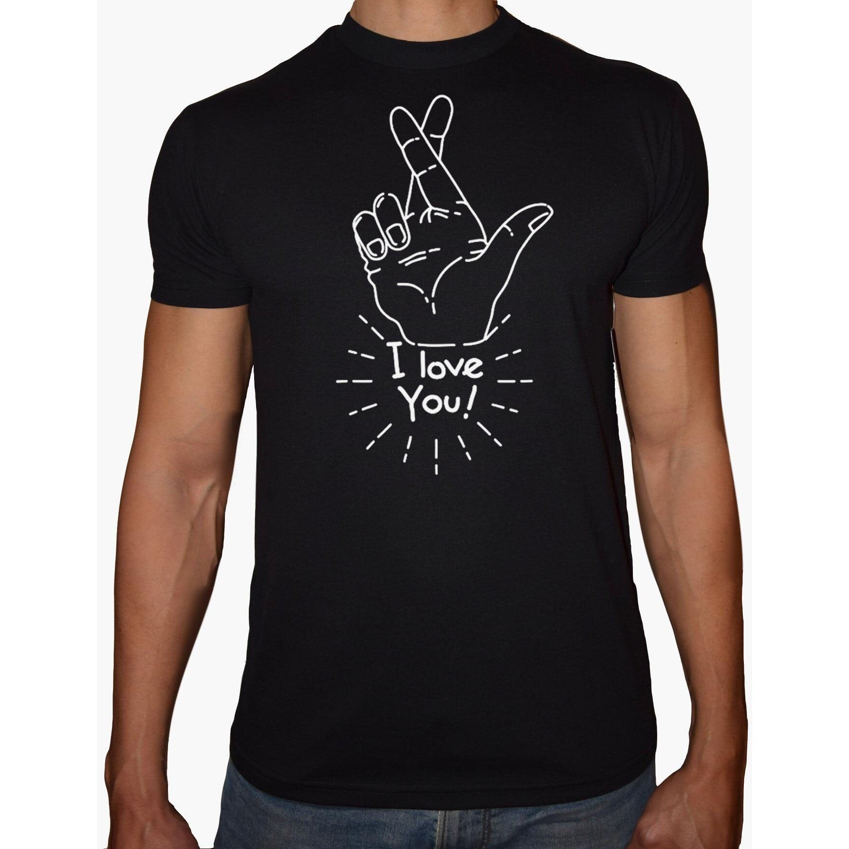 Phoenix BLACK Round Neck Printed T-Shirt Men (Fingers cross)