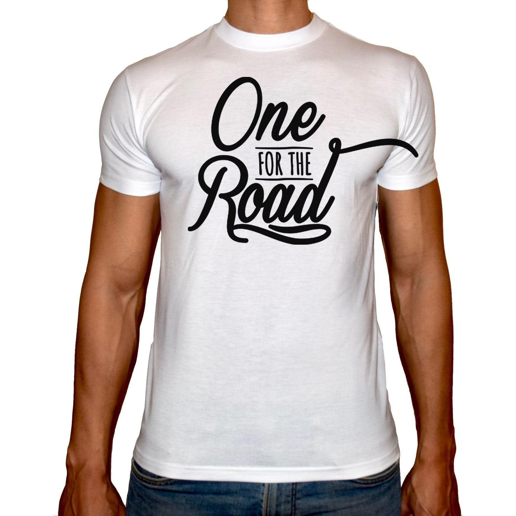 Phoenix WHITE Round Neck Printed T-Shirt Men (One for the road)