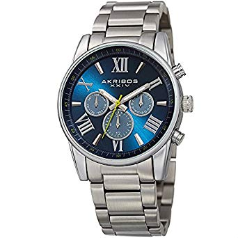 Akribos XXIV Men's Multi function Stainless Steel Bracelet Watch - AK912