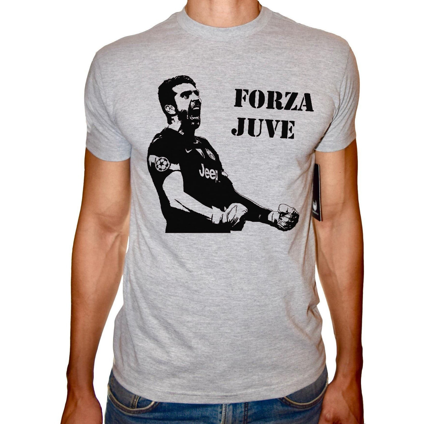 Phoenix GREY Round Neck Printed T-Shirt Men (Juve)