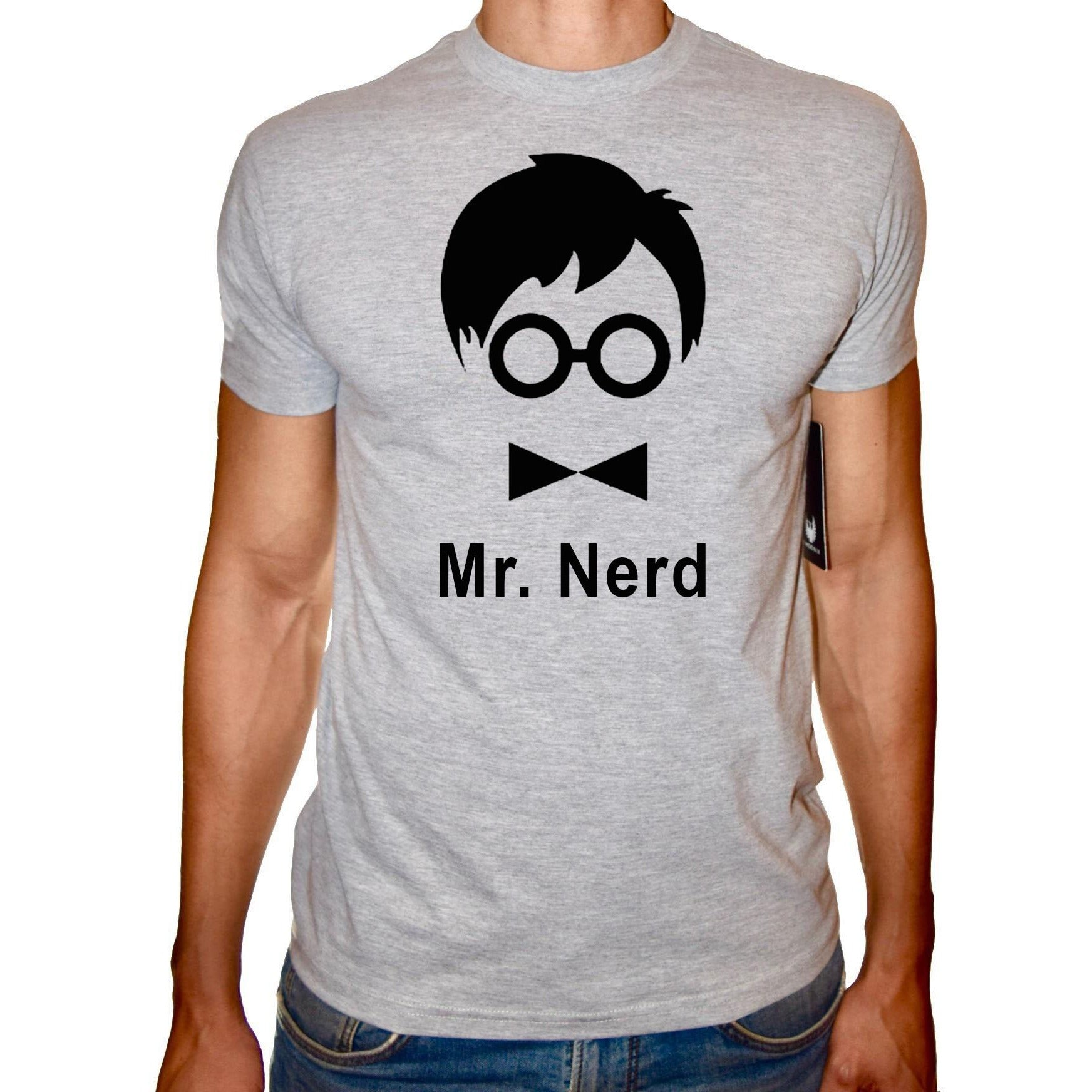 Phoenix GREY Round Neck Printed T-Shirt Men (Mr. nerd )