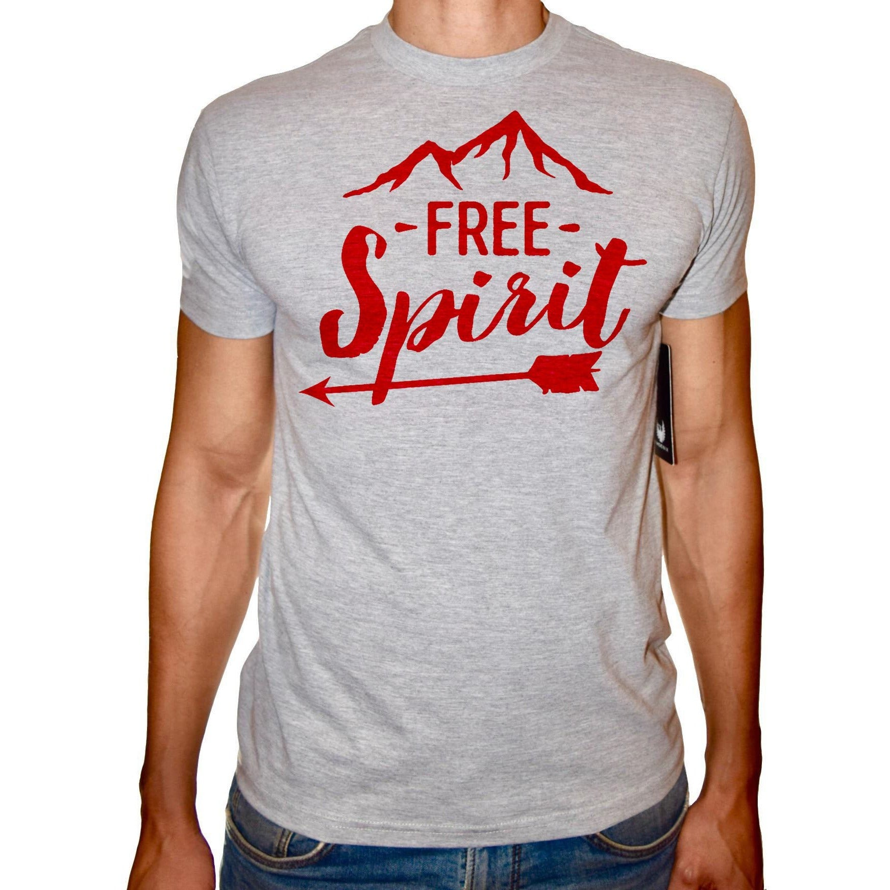 Phoenix GREY Round Neck Printed T-Shirt Men (Spirit )