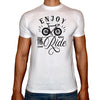 Phoenix WHITE Round Neck Printed T-Shirt Men (Bike)