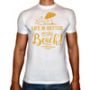 Phoenix WHITE Round Neck Printed T-Shirt Men (Beach)