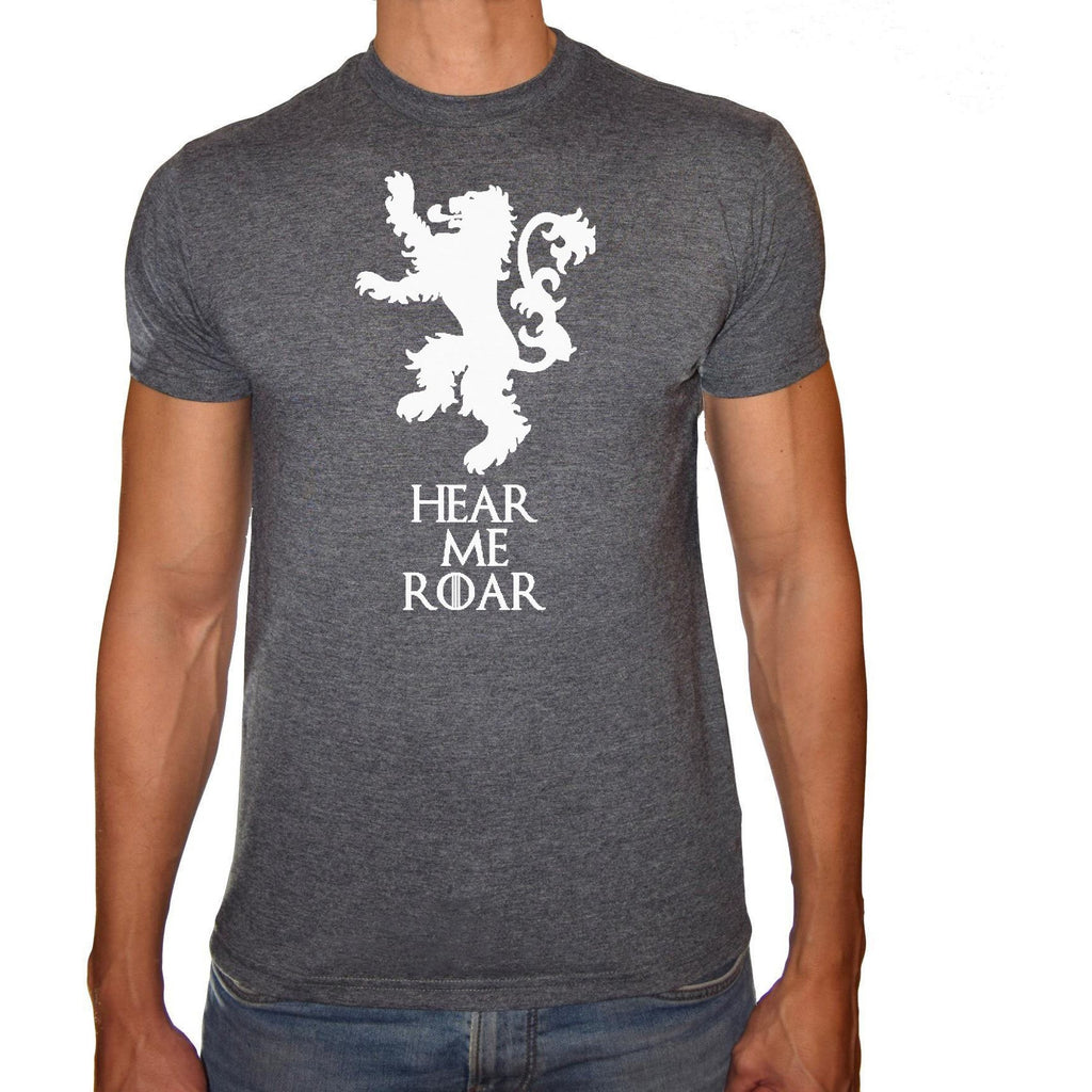 Phoenix CHARCOAL Round Neck Printed T-Shirt Men (Game of thrones) - 3alababak