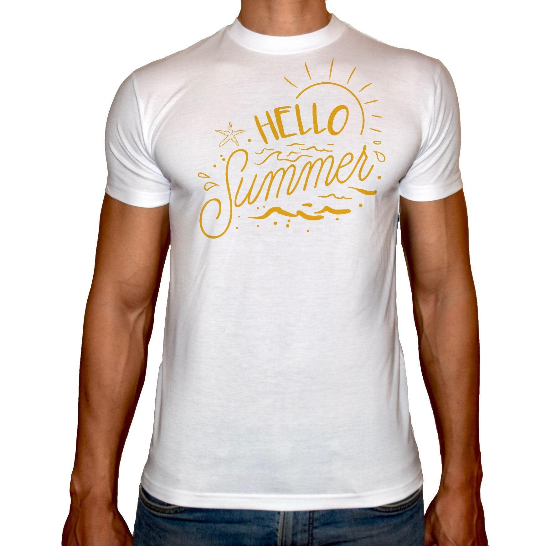 Phoenix WHITE Round Neck Printed T-Shirt Men (Summer)