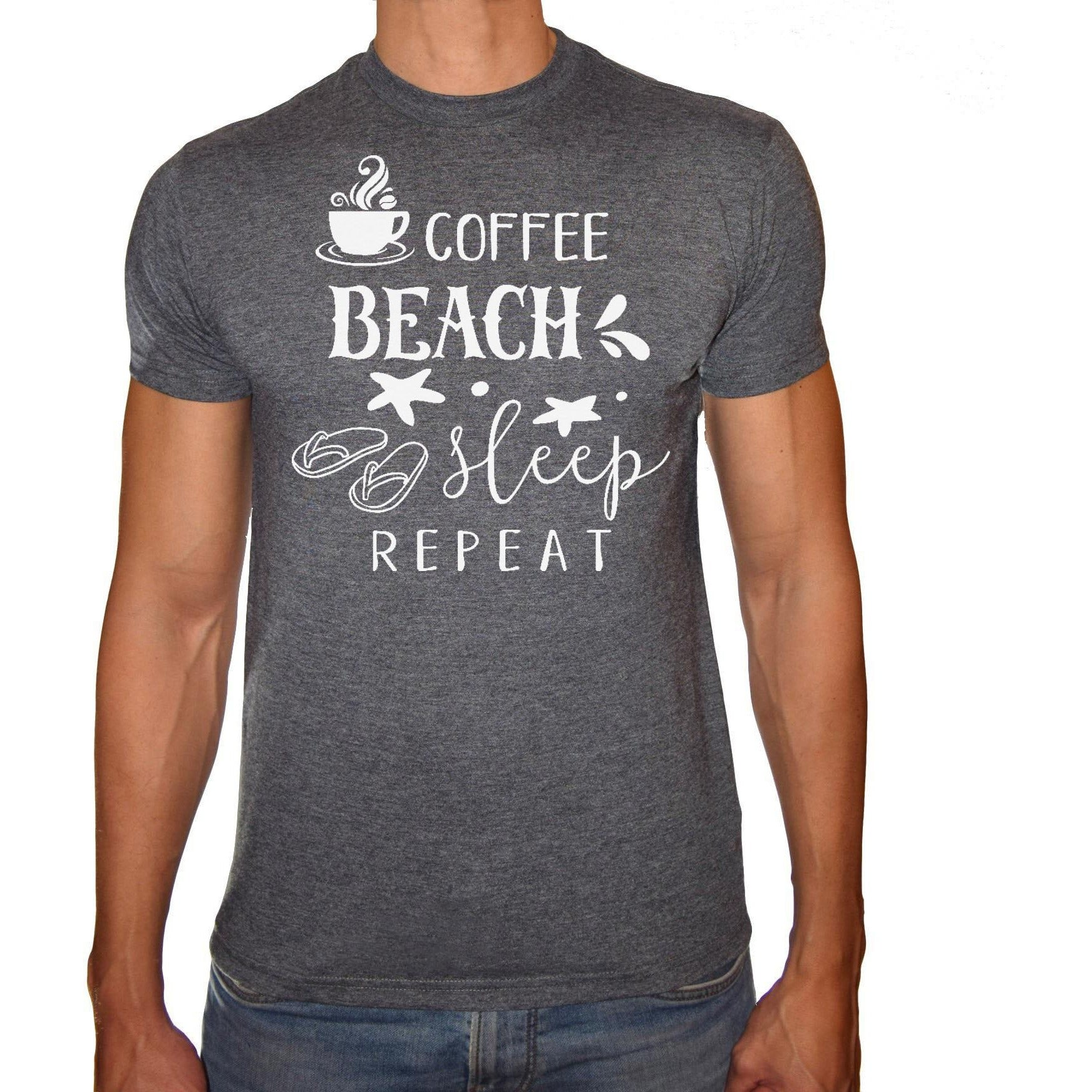 Phoenix CHARCOAL Round Neck Printed T-Shirt Men (Coffee)