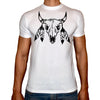 Phoenix WHITE Round Neck Printed T-Shirt Men (Boho )
