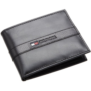 Tommy Hilfiger 31TL22X062 Men's Leather Wallet Bifold Black, One Size