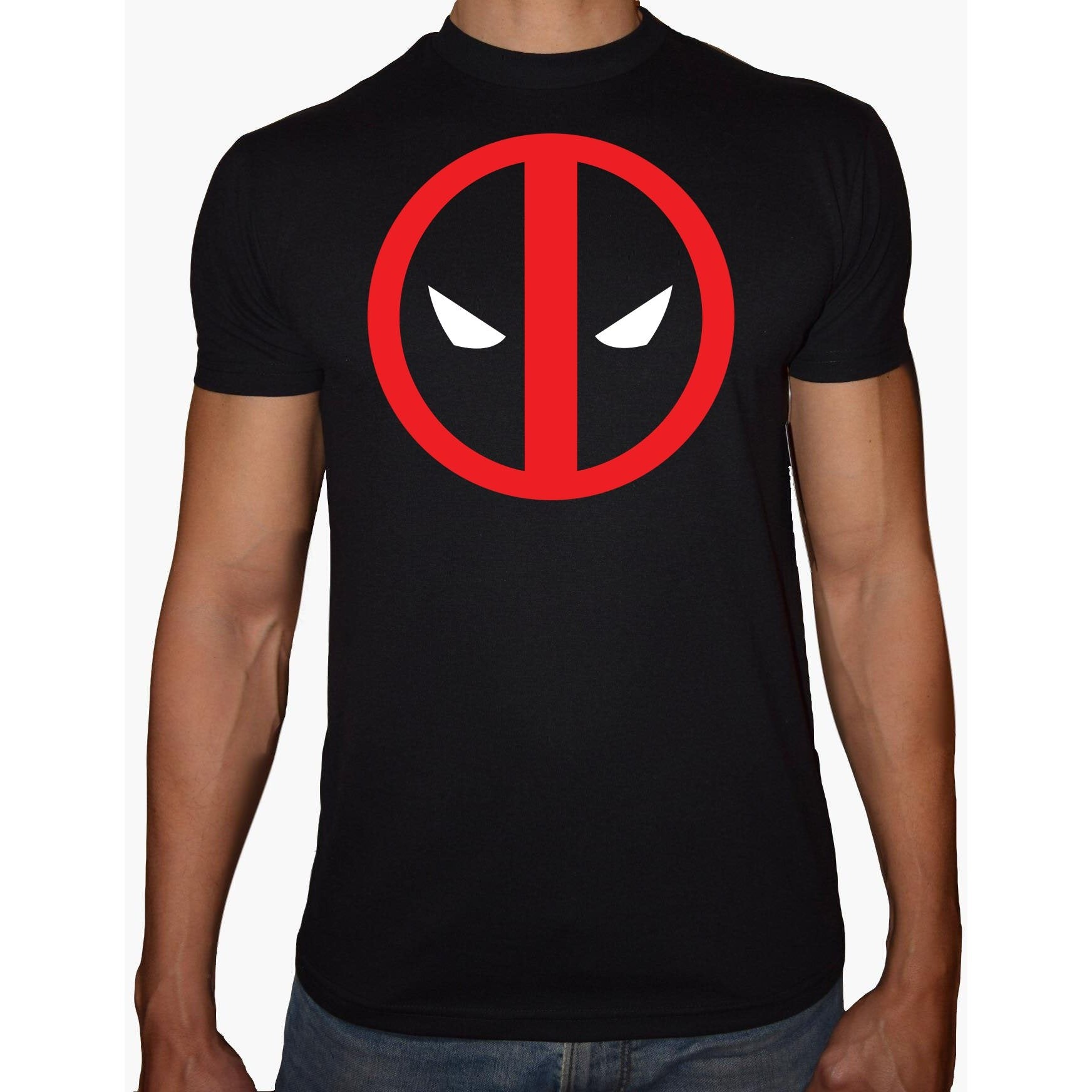 Phoenix BLACK Round Neck Printed T-Shirt Men (Deadpool)