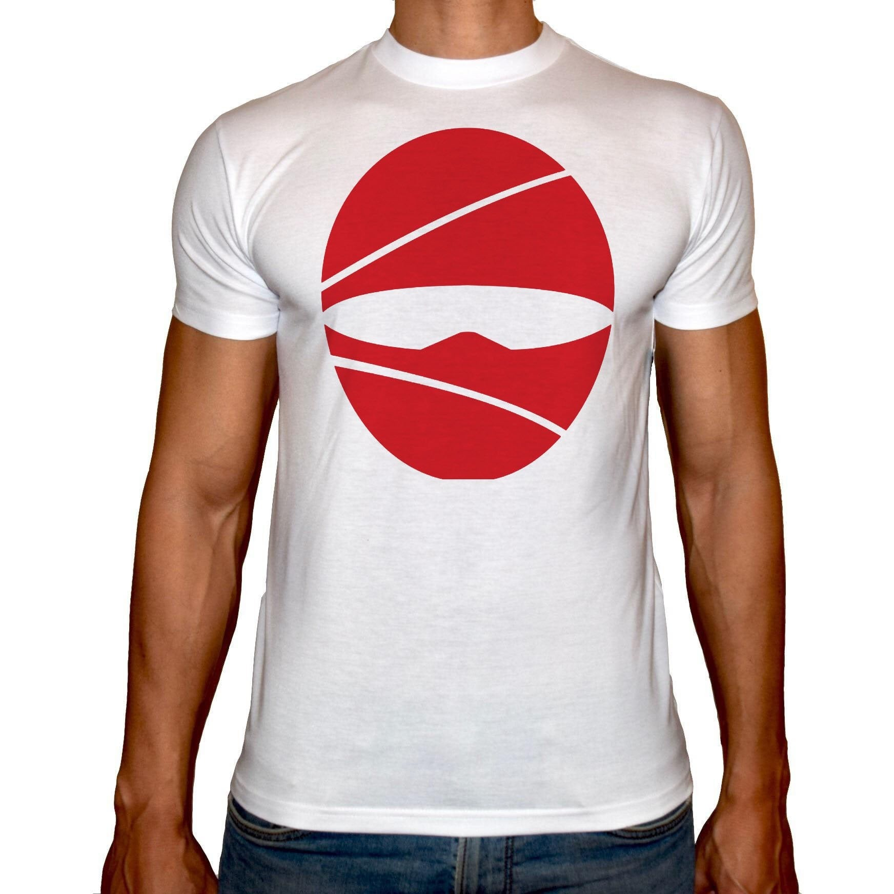 Phoenix WHITE Round Neck Printed T-Shirt Men (Ninja)
