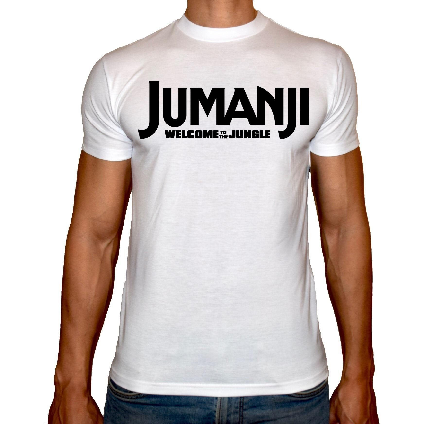 Phoenix WHITE Round Neck Printed T-Shirt Men (Jumanji)