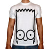 Phoenix WHITE Round Neck Printed T-Shirt Men (The simpsons )