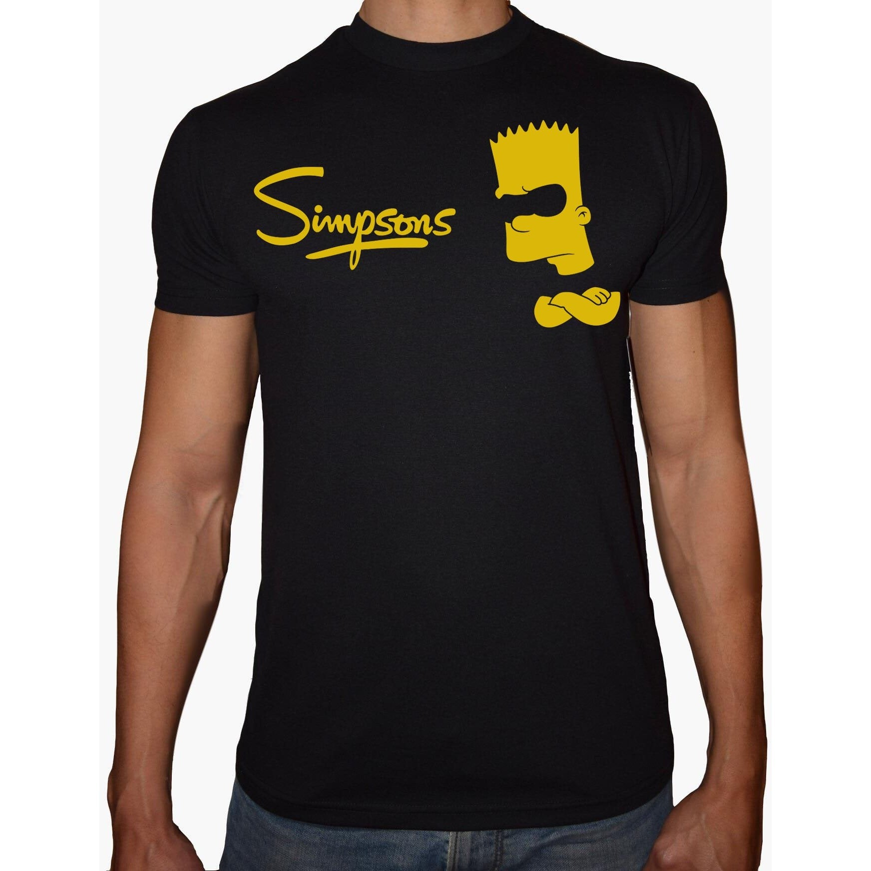 Phoenix BLACK Round Neck Printed T-Shirt Men (The simpsons)