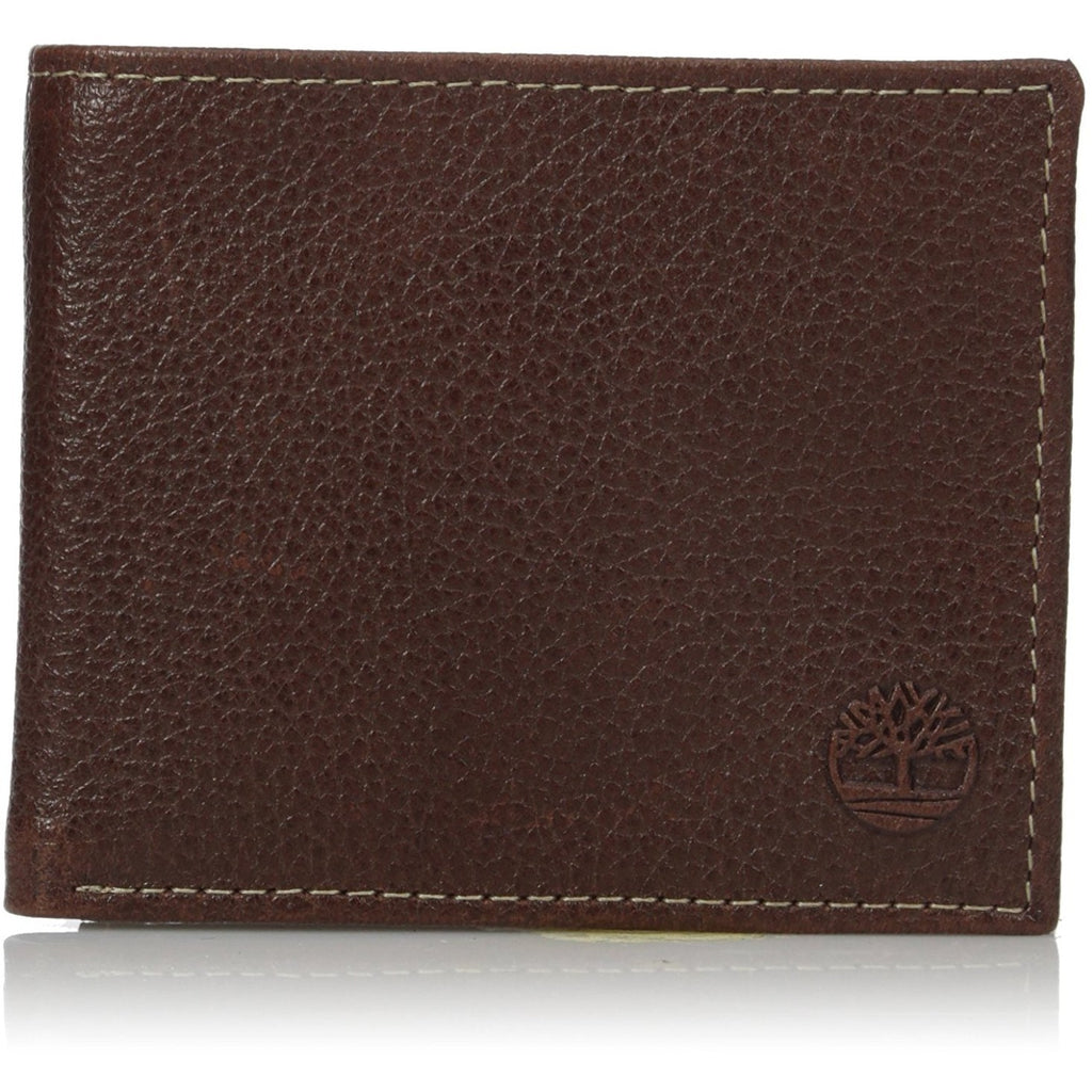 Timberland Men's Leather Slimfold Wallet with Tech Key Chain Gift Set - 3alababak