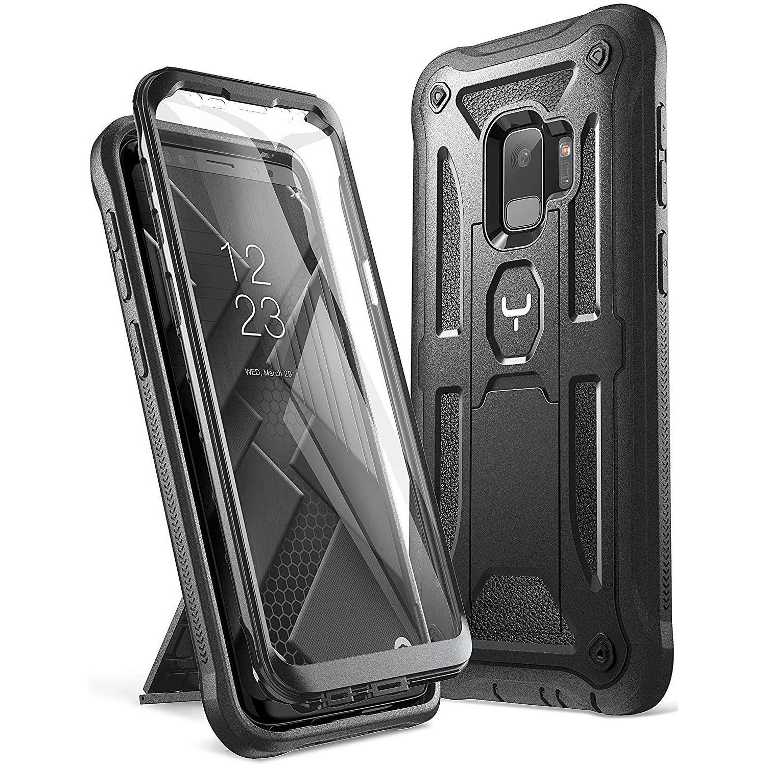 Youmaker Galaxy S9 Case, Heavy Duty Kickstand with Built-in Screen Protector Cover
