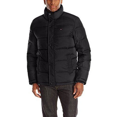 Tommy Hilfiger Men's Classic Puffer Black Jacket, X-Large