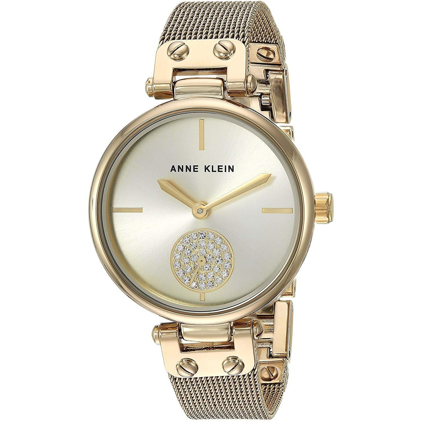 Anne Klein Women's AK/3000CHGB Swarovski Crystal and Bangle Watch