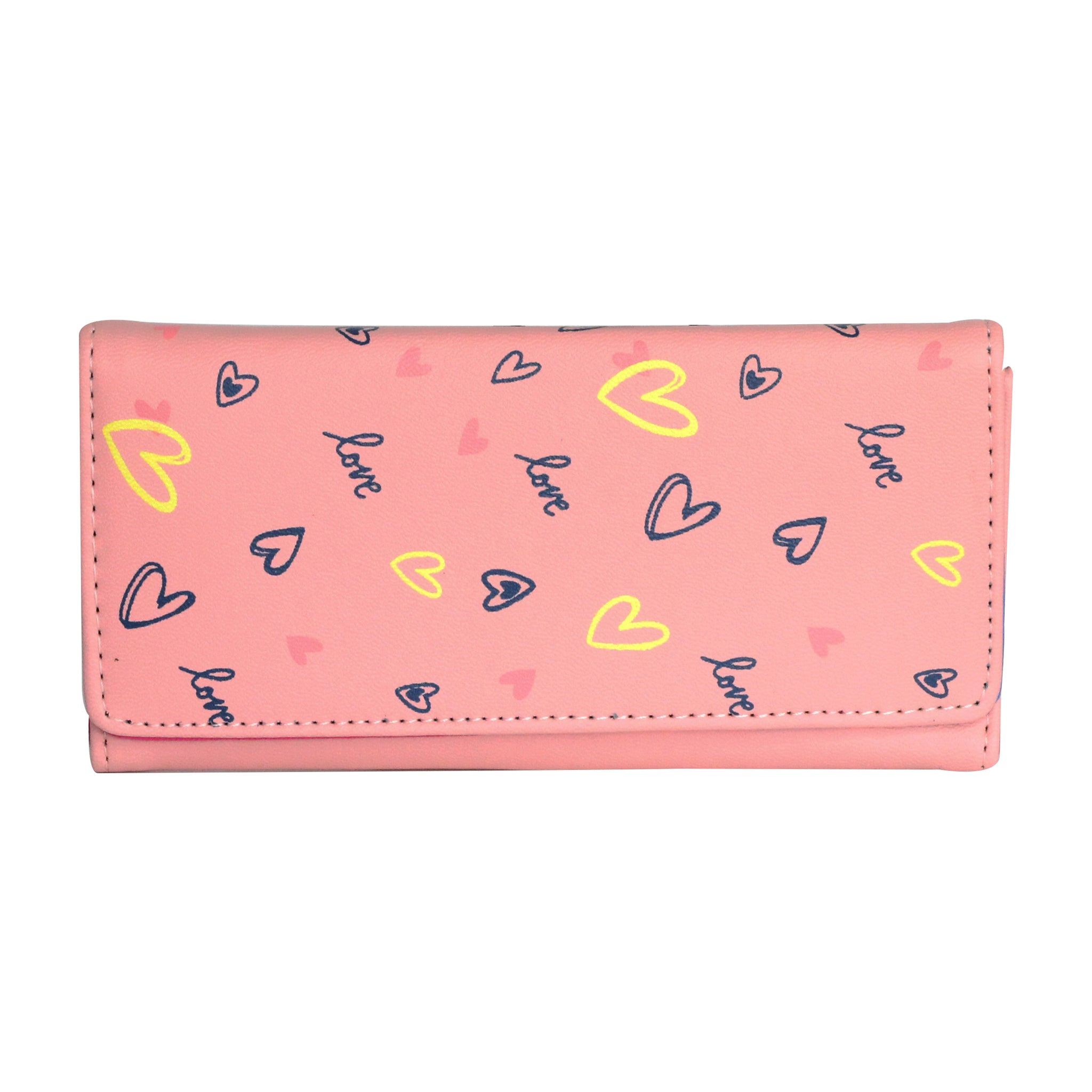 Botusi Slim Bifold Hearts Wallet One Size