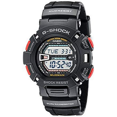 Casio G-Shock Quartz Watch with Resin Strap, Black Model G9000-1V