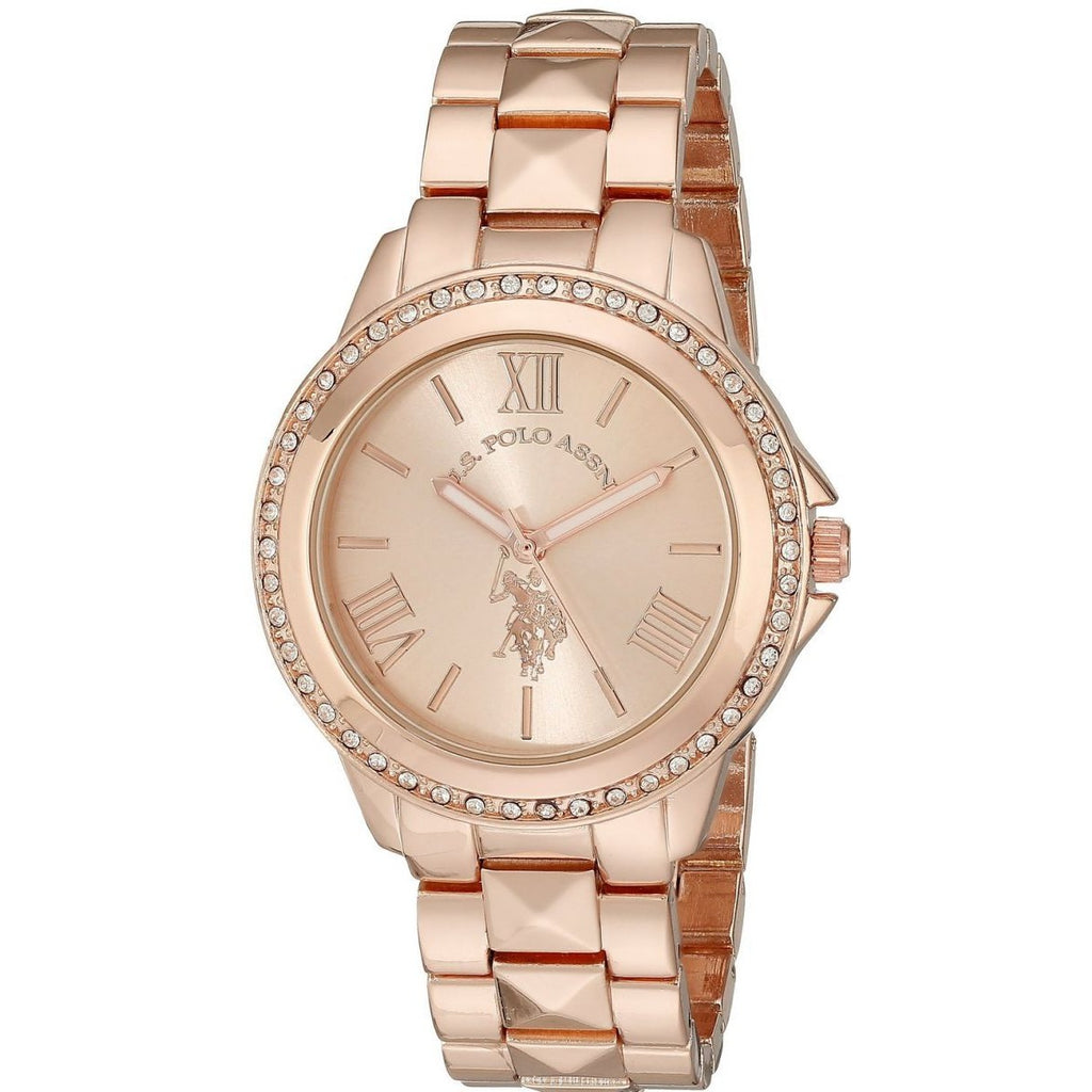 U.S. Polo Assn. Women's USC40078 Rose Gold-Tone Bracelet Watch - 3alababak