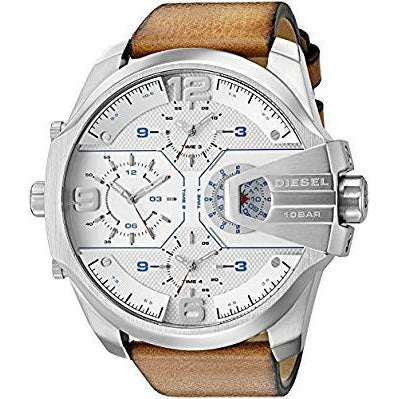 Diesel Men's 'Uber Chief' Quartz Stainless Steel and Leather Casual Watch Model DZ7374