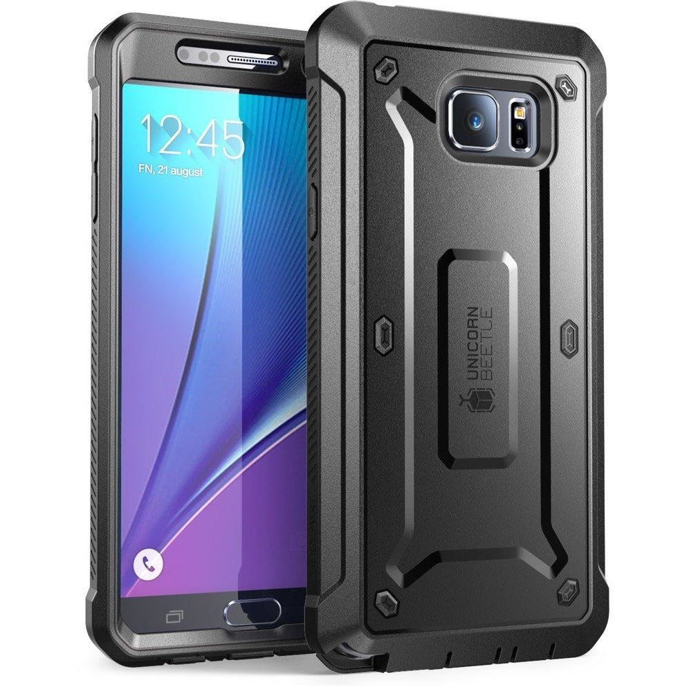 SUPCASE [Heavy Duty] Belt Clip Holster Unicorn Beetle PRO Series-Samsung Galaxy Note 5 Mobile Cover