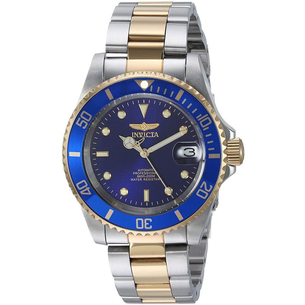 Invicta Men's 8928OB Pro Diver Gold Stainless Steel Two-Tone Automatic Watch - 3alababak